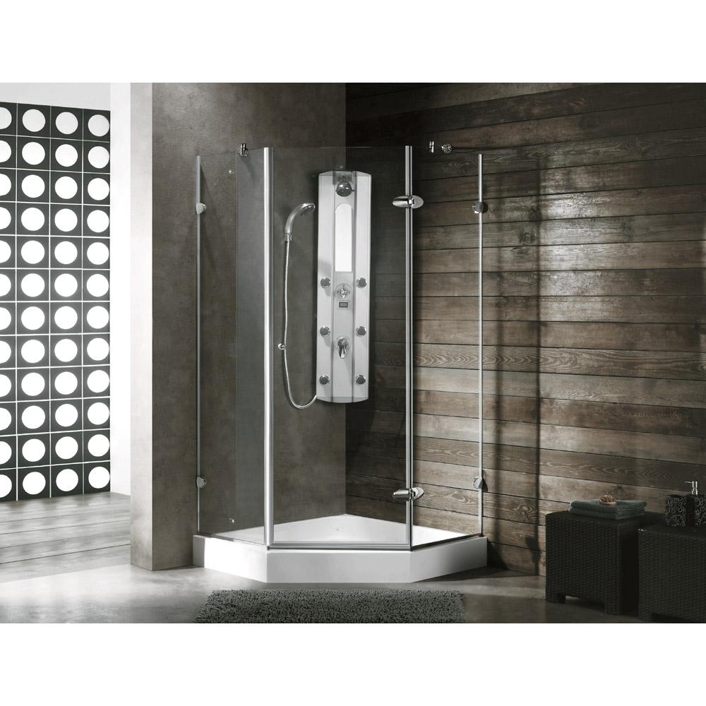 Vigo Industries Frameless Neo Angle Shower Enclosure 36