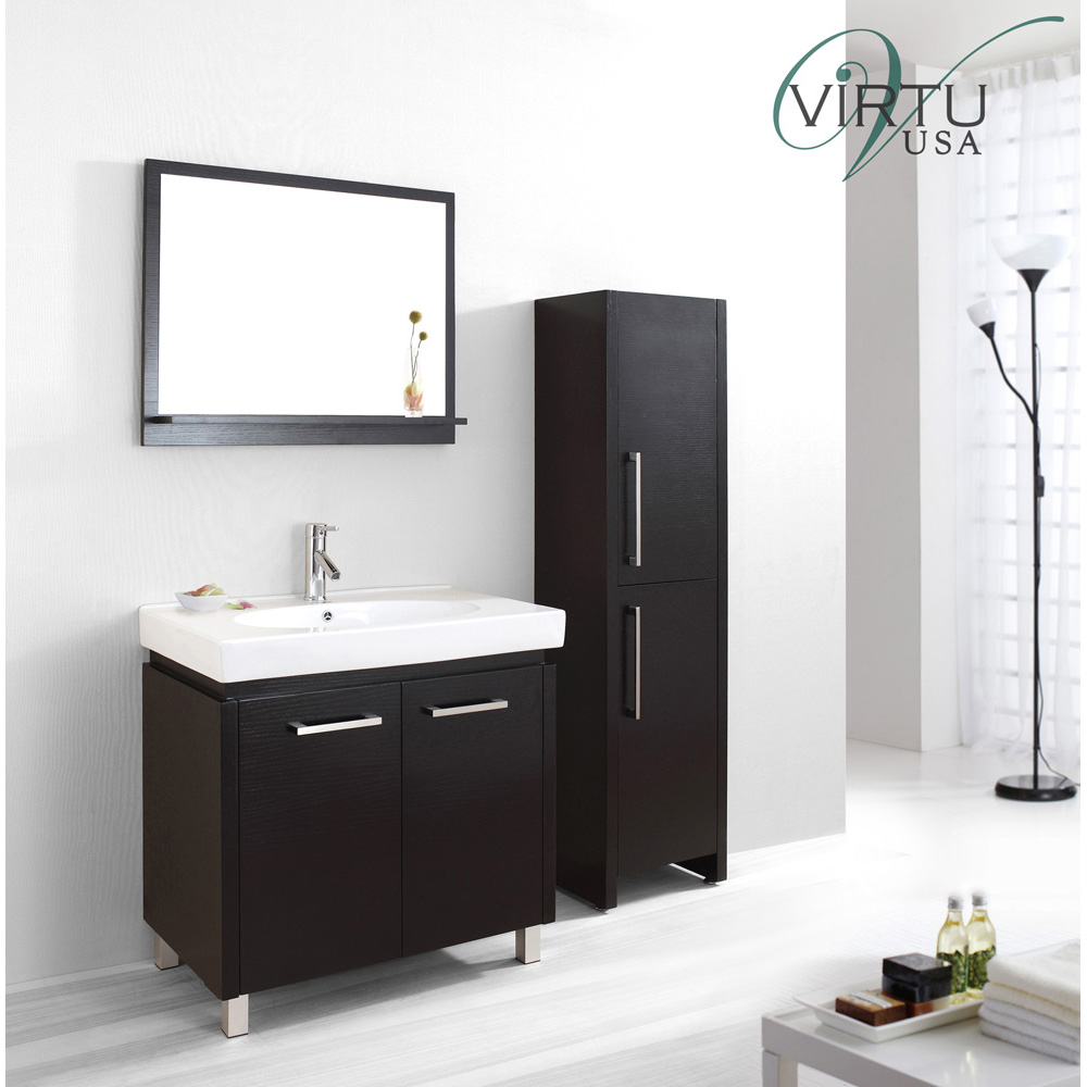 Virtu Usa Harmen 32 Quot Single Sink Bathroom Vanity Set Espresso Free Shipping Modern Bathroom