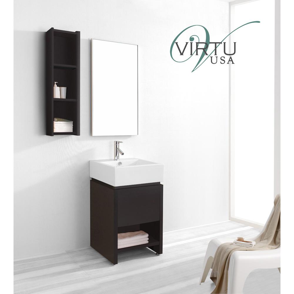 virtu usa curtice 20 single sink bathroom vanity set espresso free shipping modern bathroom