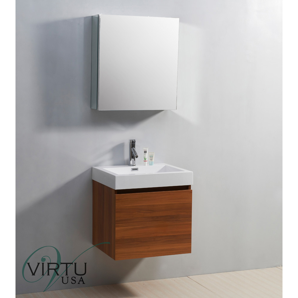 Virtu Usa 24 Quot Zuri Single Sink Bathroom Vanity With