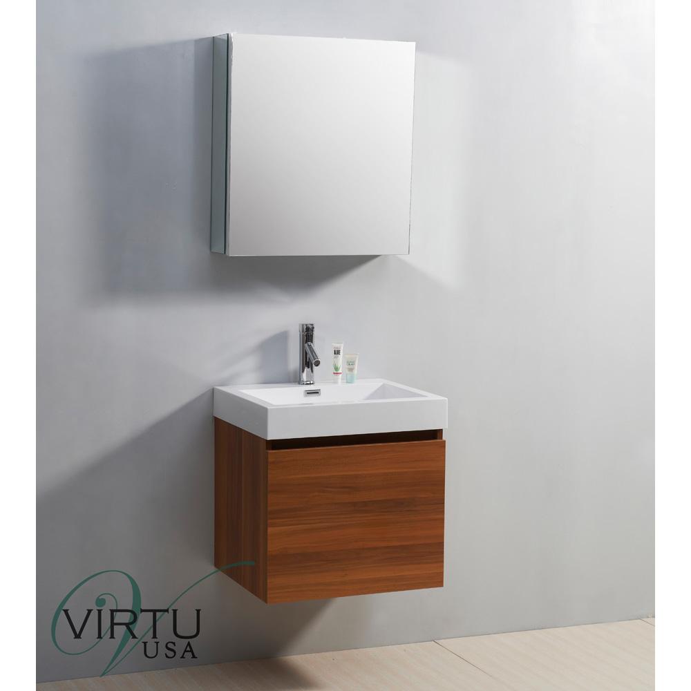 "Sink Countertop Bathroom: Virtu USA 24"" Zuri Single Sink Bathroom Vanity With"
