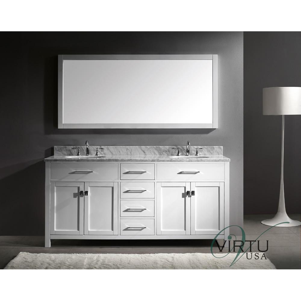 Virtu Usa Caroline 72 Quot Double Sink Bathroom Vanity White