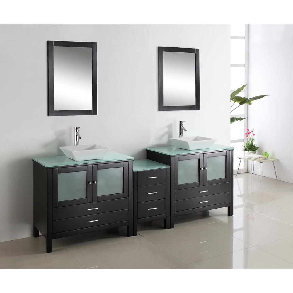 Virtu Usa Brentford 90 Double Sink Bathroom Vanity Espresso Free Shipping Modern Bathroom