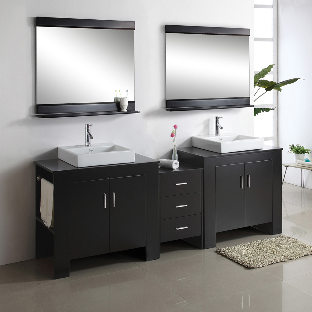 Virtu Usa Tavian 90 Double Sink Bathroom Vanity