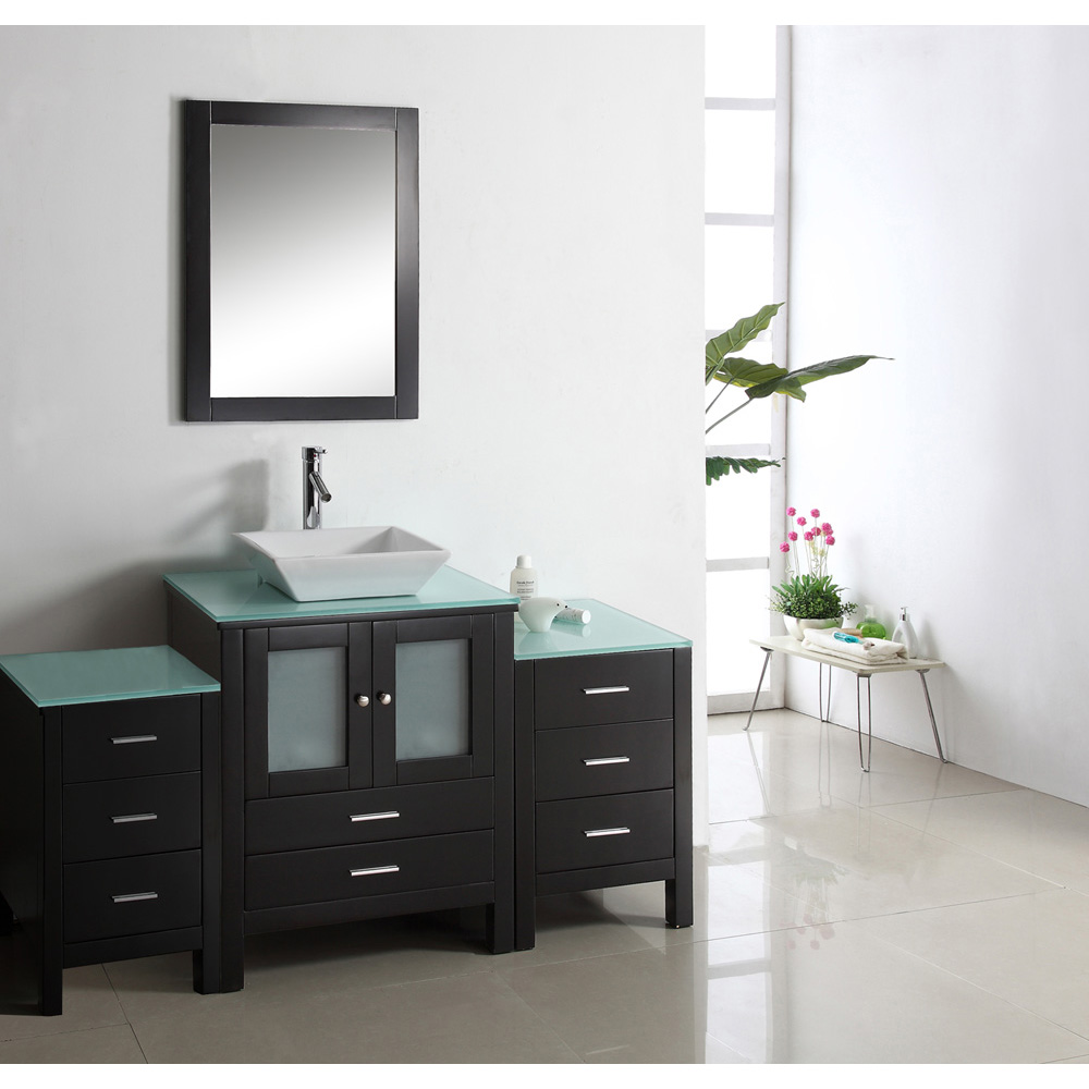 "Virtu USA Brentford 63"" Single Sink Bathroom Vanity - Espresso"