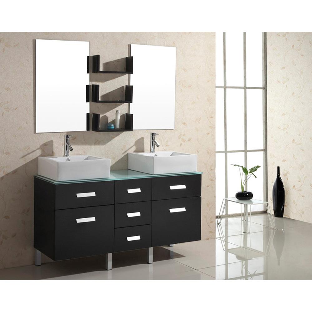 Virtu Usa Maybell 56 Double Sink Bathroom Vanity Espresso Free Shipping Modern Bathroom