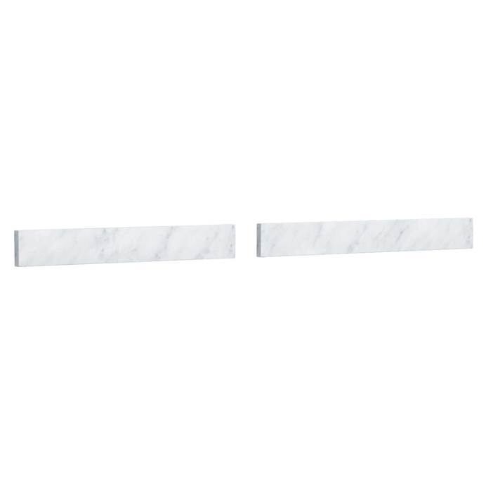 "Replacement 48"" Backsplash - White Carrara Marble REPL-WC-VCA-48-BS-CAR"
