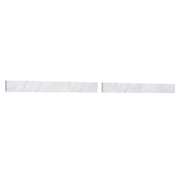 "Replacement 60"" Backsplash - White Carrara Marble REPL-WC-VCA-60-BS-CAR"