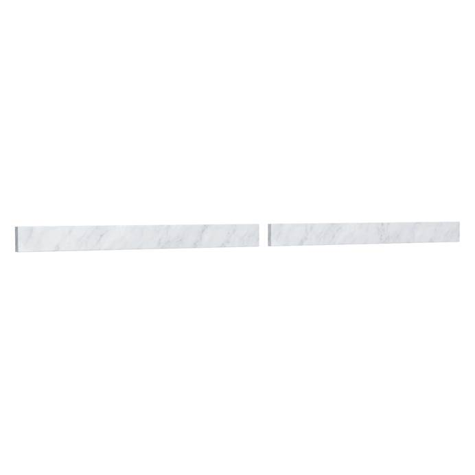 "Replacement 72"" Backsplash - White Carrara Marble REPL-WC-VCA-72-BS-CAR"