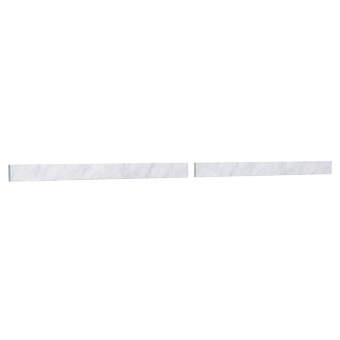 "Replacement 80"" Backsplash - White Carrara Marble REPL-WC-VCA-80-BS-CAR"