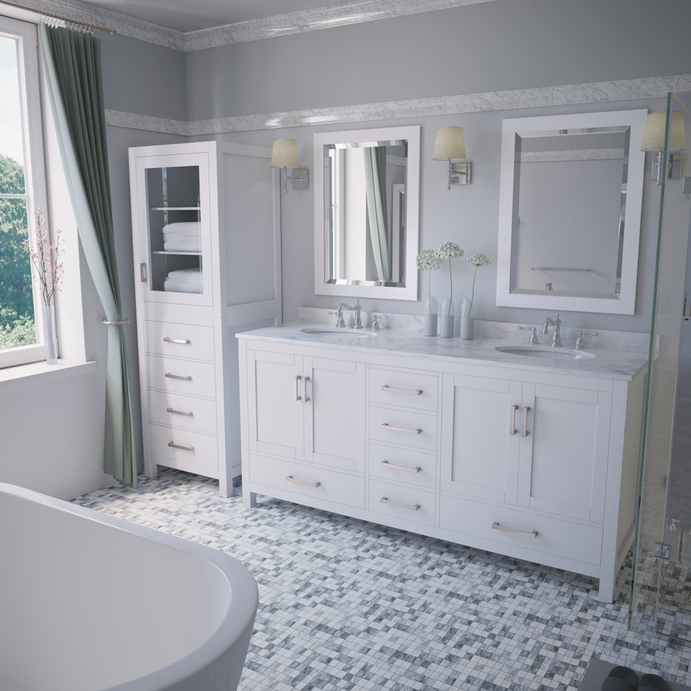 "Wyndham Bathroom Vanities: Sheffield 72"" Double Bathroom Vanity By Wyndham Collection"