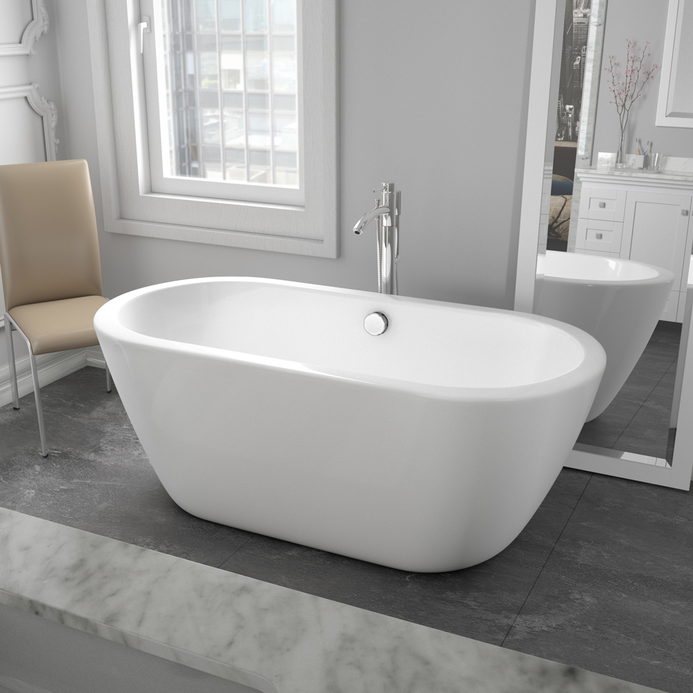 """Soho 60"""" Soaking Bathtub By Wyndham Collection"""