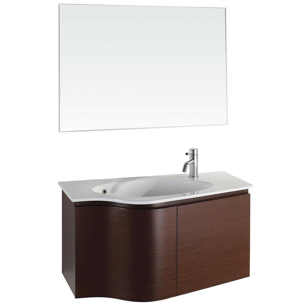 Aldo 36 Modern Bathroom Vanity Set Iron Wood Free