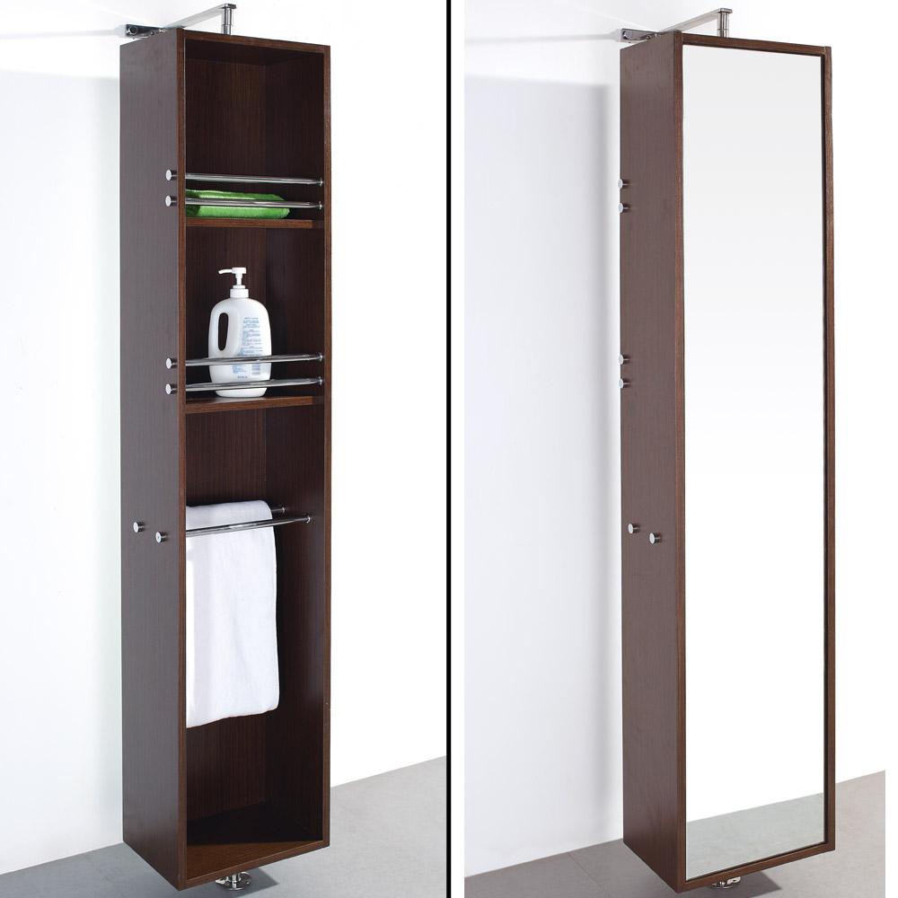 revolving bathroom cabinet barcelona rotating storage cabinet iron wood free 25585