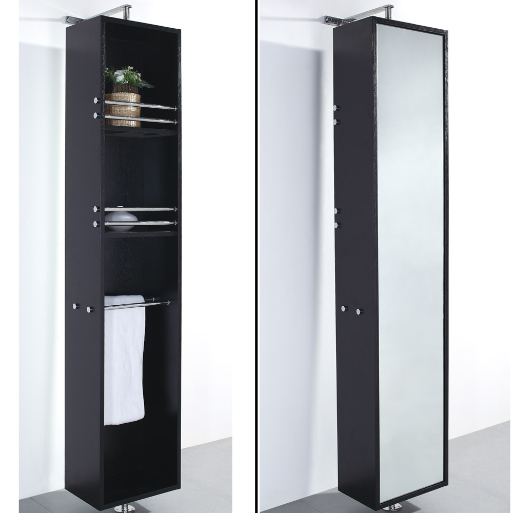 rotating bathroom cabinet barcelona rotating storage cabinet espresso free 25655