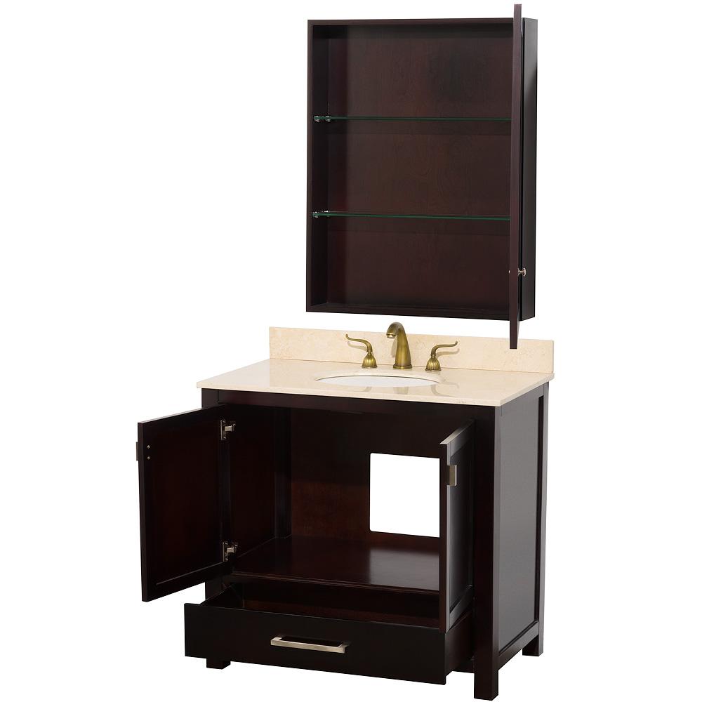 Abingdon 36 Quot Single Bathroom Vanity By Wyndham Collection Espresso Free Shipping Modern