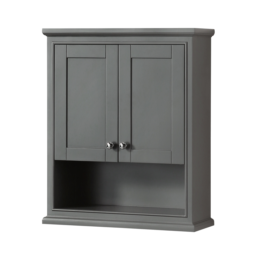 deborah over toilet wall cabinet by wyndham collection dark gray free shipping modern bathroom. Black Bedroom Furniture Sets. Home Design Ideas