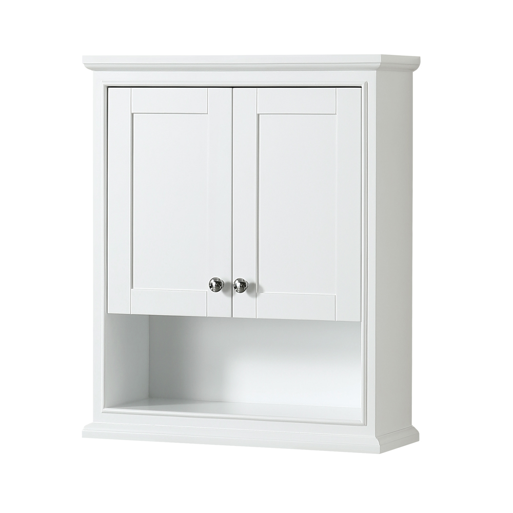 Deborah Over-Toilet Wall Cabinet By Wyndham Collection - White