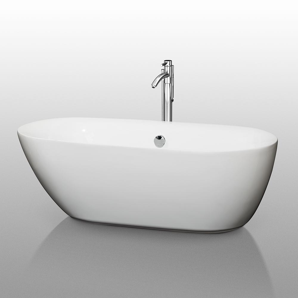 Melissa 65 Quot Soaking Bathtub By Wyndham Collection Free