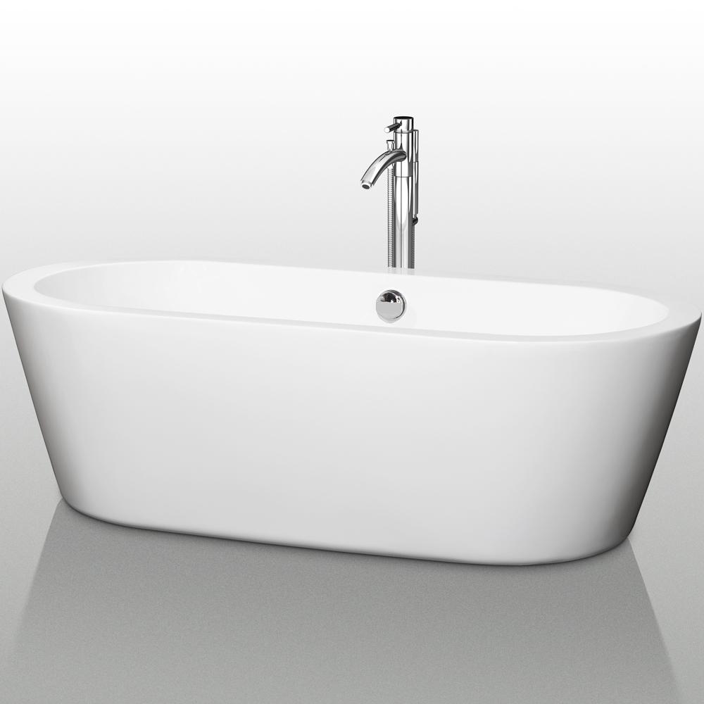 """Mermaid 71"""" Soaking Bathtub By Wyndham Collection"""