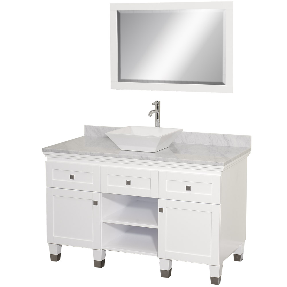 22 quot rioni 22 espresso bathroom vanity bathroom vanities ardi - Premiere 48 Bathroom Vanity By Wyndham Collection White