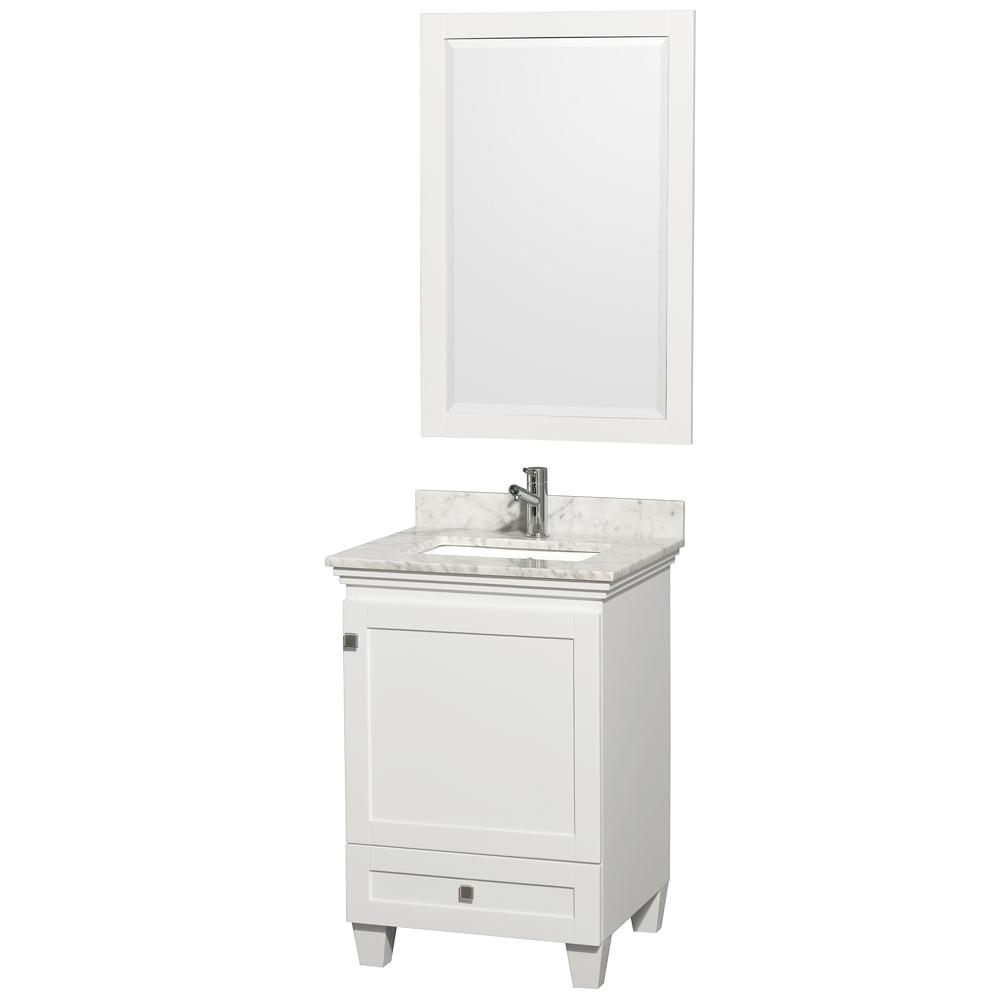 Bathroom Vanities 24 Inch - Acclaim 24 in single bathroom vanity by wyndham collection white free shipping modern bathroom