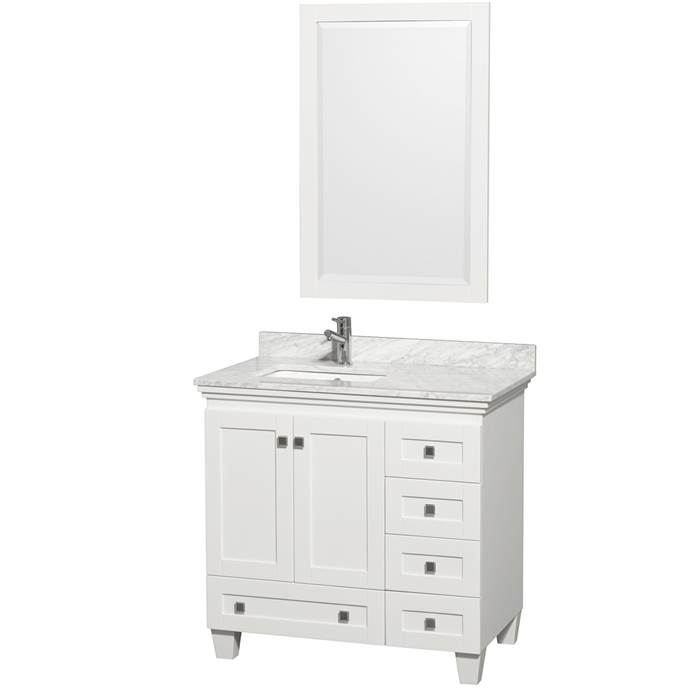 Acclaim 36 in. Single Bathroom Vanity - White WC-CG8000-36-SGL-VAN-WHT-