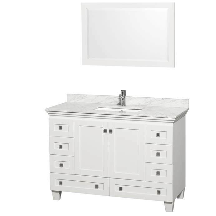 Acclaim 48 in. Single Bathroom Vanity by Wyndham Collection - White WC-CG8000-48-SGL-VAN-WHT-