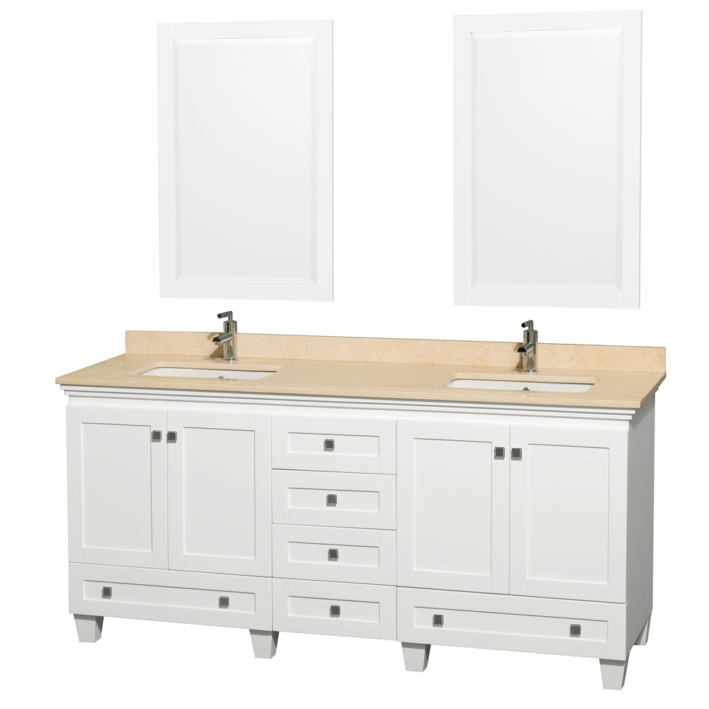 Wyndham Bathroom Vanities: Acclaim 72 In. Double Bathroom Vanity By Wyndham