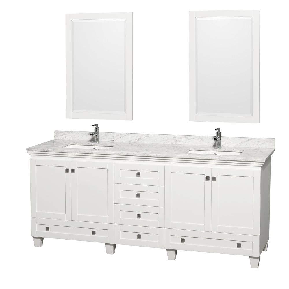 Double bathroom vanity - Double Bathroom Vanity By Wyndham Collection White Free Shipping Modern Bathroom