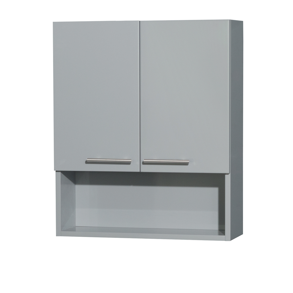 Amare Bathroom Wall Cabinet By Wyndham Collection Dove Gray