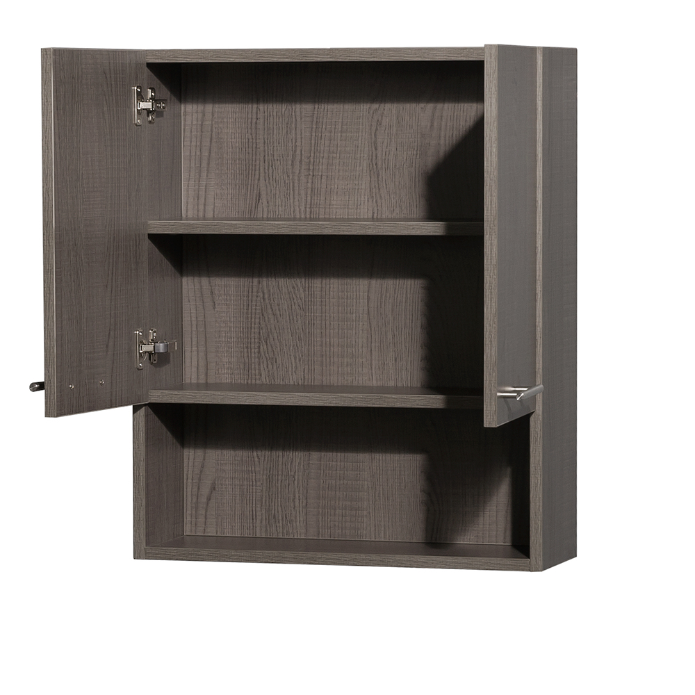 Amare Over-Toilet Wall Cabinet By Wyndham Collection - Gray Oak