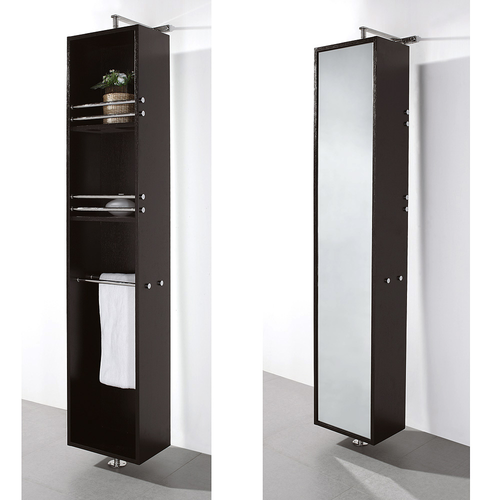 April rotating floor cabinet with mirror by wyndham for V bathroom opening hours