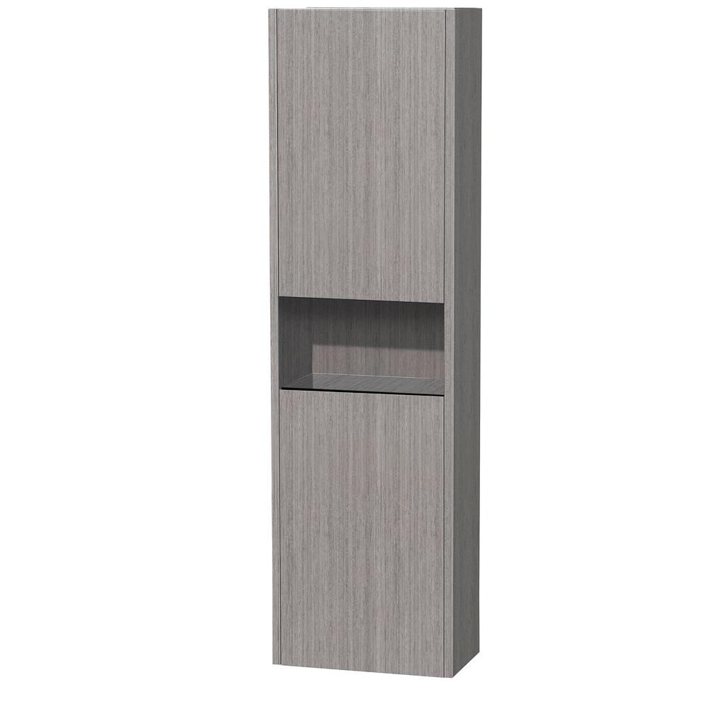 Diana wall cabinet by wyndham collection gray oak free - Bathroom storage furniture cabinets ...
