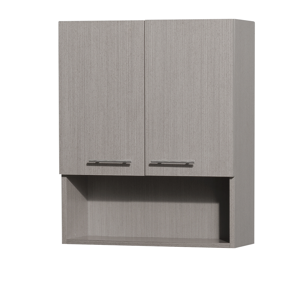 Centra Bathroom Wall Cabinet By Wyndham Collection Gray