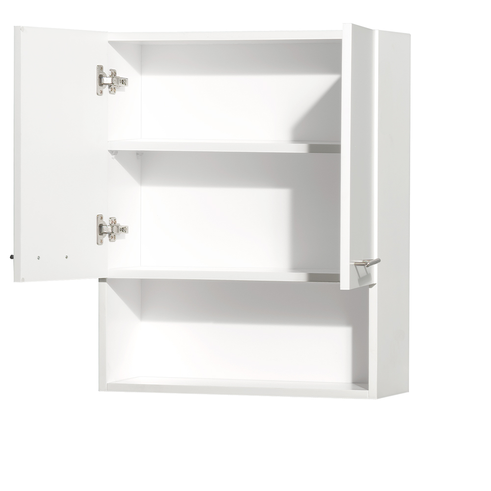 Centra bathroom wall cabinet by wyndham collection matte white free shipping modern bathroom for Wyndham bathroom wall cabinet
