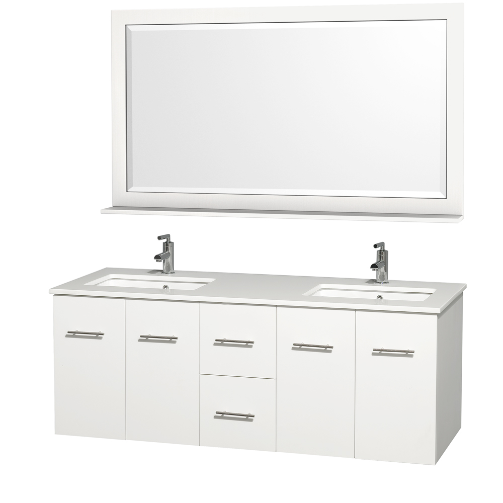 Centra Wall-Mounted Modern Bathroom Vanities