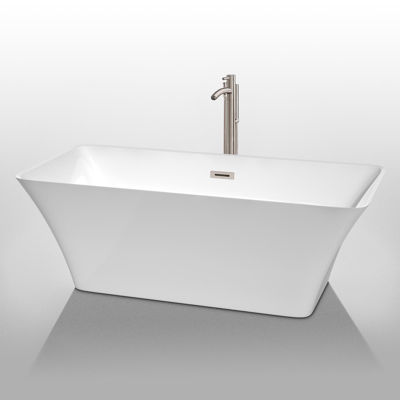 """Tiffany 67"""" Large Soaking Bathtub By Wyndham Collection"""