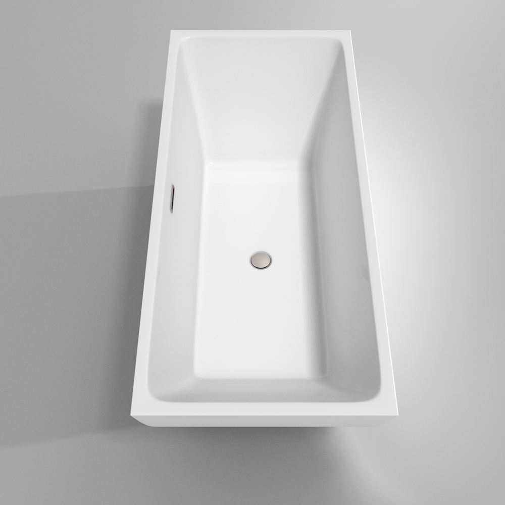 Rachel 67 Quot Soaking Bathtub By Wyndham Collection White