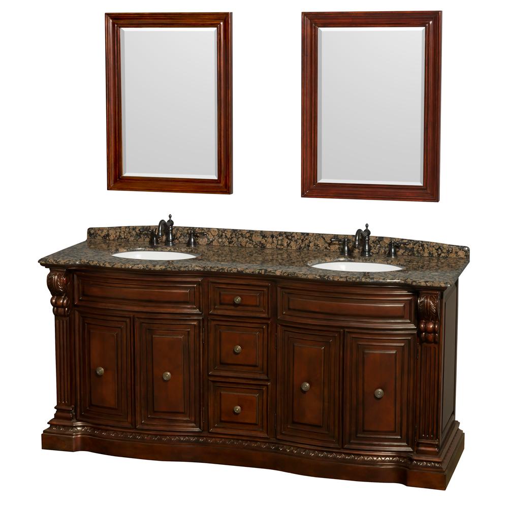 Roxbury 72 Traditional Double Bathroom Vanity By Wyndham Collection Cherry Free Shipping Modern Bathroom