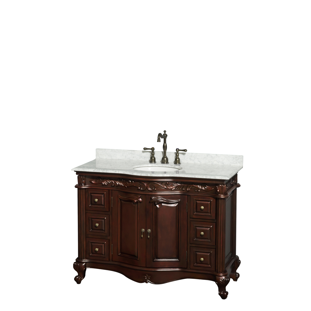 "Wyndham Bathroom Vanities: Edinburgh 48"" Single Bathroom Vanity By Wyndham Collection"