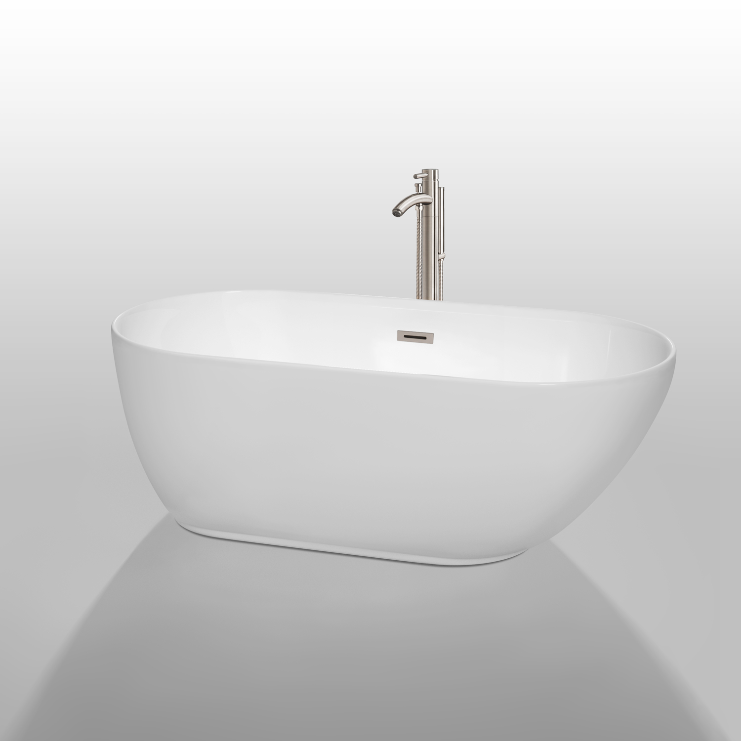 Melissa 60 Quot Soaking Bathtub By Wyndham Collection Free