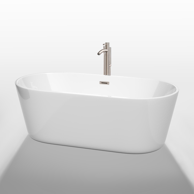 """Carissa 67"""" Soaking Bathtub By Wyndham Collection"""