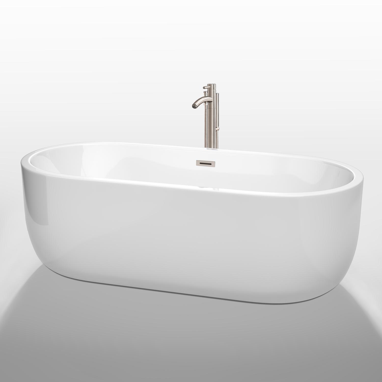 """Juliette 71"""" Soaking Bathtub By Wyndham Collection"""