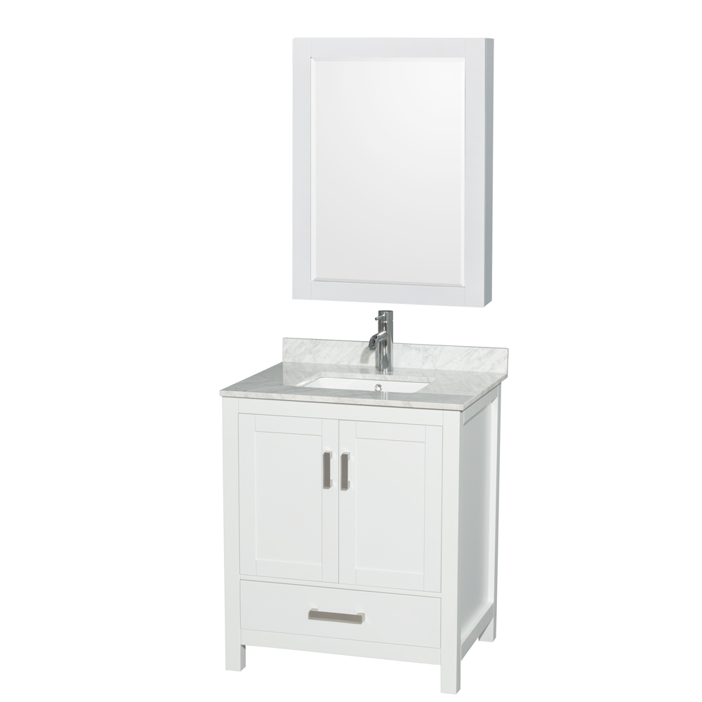 "Wyndham Bathroom Vanities: Sheffield 30"" Single Bathroom Vanity By Wyndham Collection"