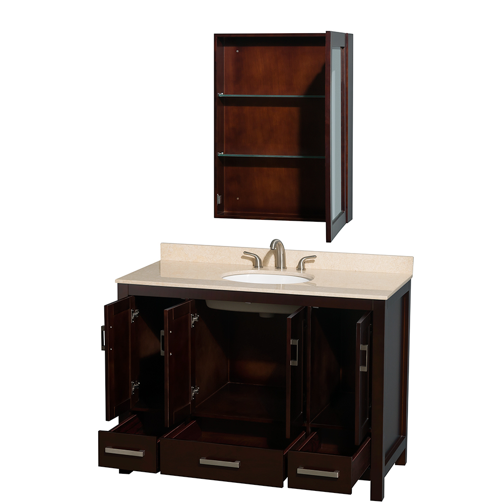 "Wyndham Bathroom Vanities: Sheffield 48"" Single Bathroom Vanity By Wyndham Collection"