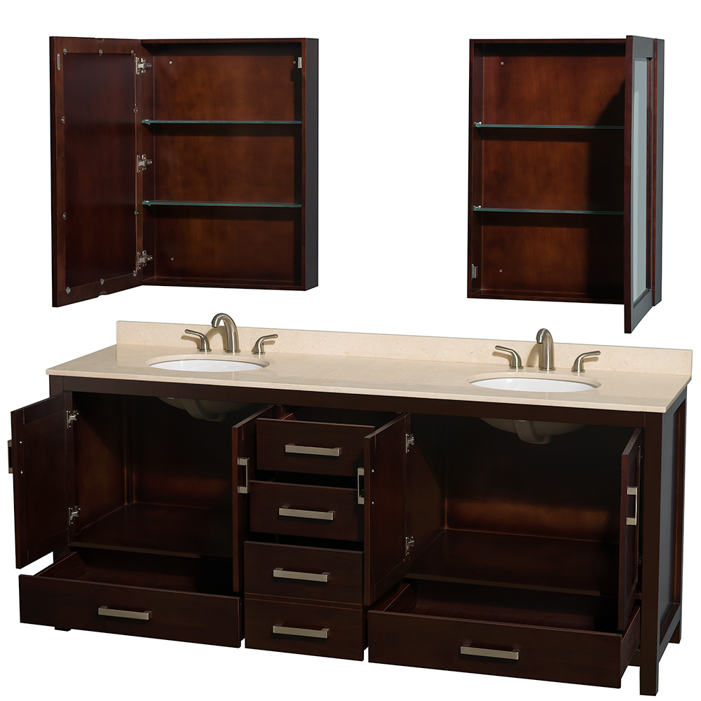 "Wyndham Bathroom Vanities: Sheffield 80"" Double Bathroom Vanity By Wyndham Collection"