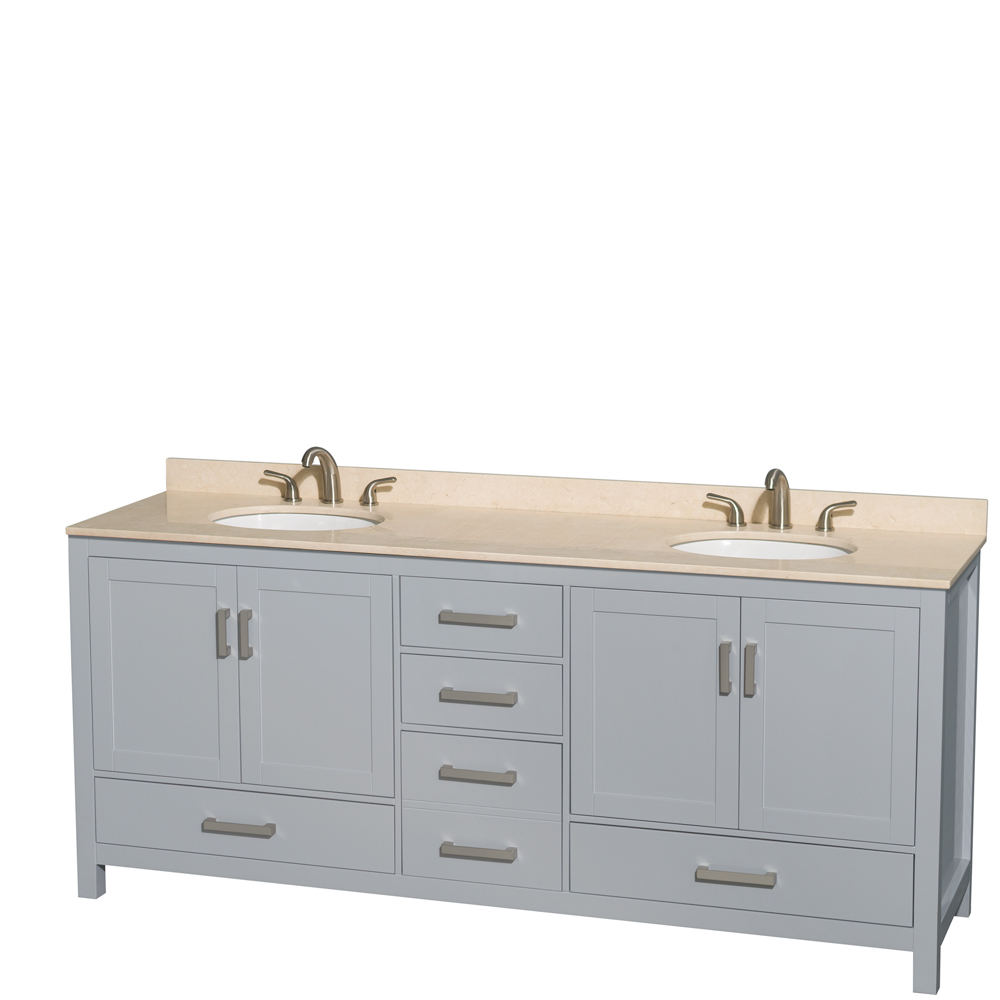 Sheffield 80 Quot Double Bathroom Vanity By Wyndham Collection Gray Free Shipping Modern Bathroom