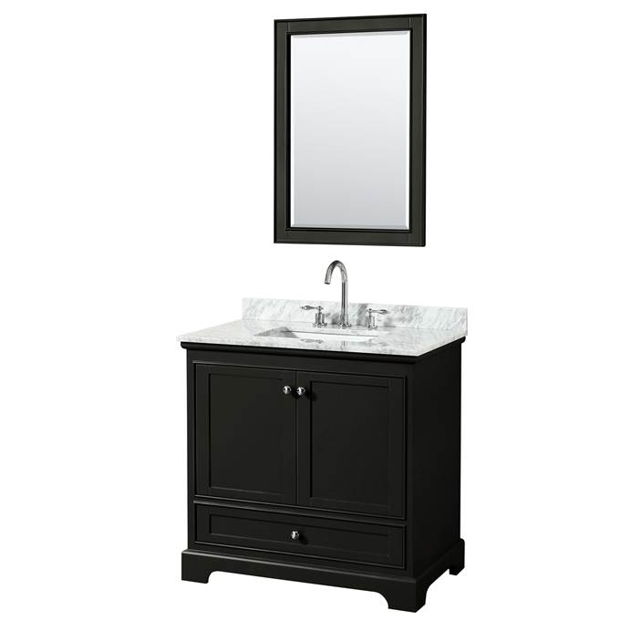 "Deborah 36"" Single Bathroom Vanity by Wyndham Collection - Dark Espresso WC-2020-36-SGL-VAN-DES"