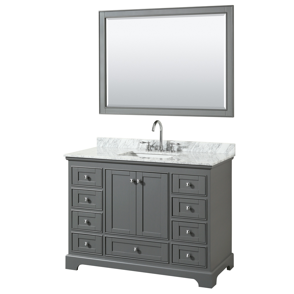 "Deborah 48"" Single Bathroom Vanity By Wyndham Collection"